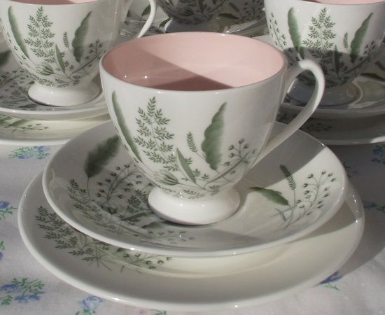 Queen Anne Pampas Double Tea Set