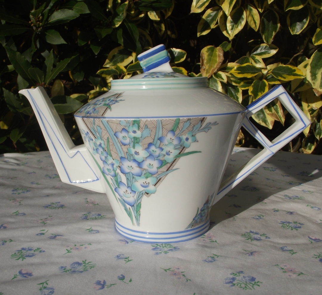 Foley Art Deco Teapot