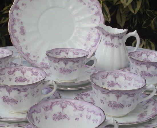 Allertons Purple Lace Teaset