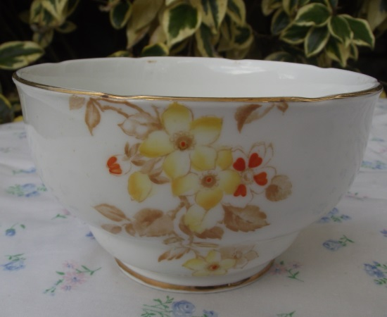 Royal Stafford Red & Yellow Art Deco Sugar Bowl