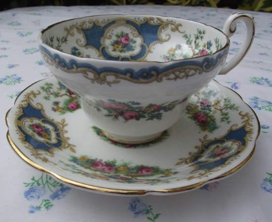 Coalport Broadway Blue Duo