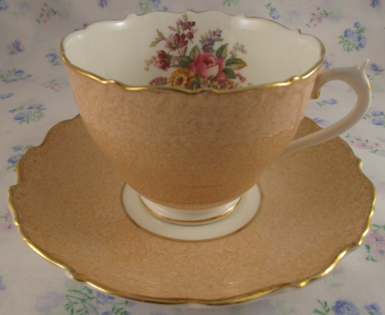 Coalport Sandy Teacup Duo