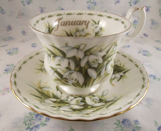 Royal Albert Flowers of the Month: January
