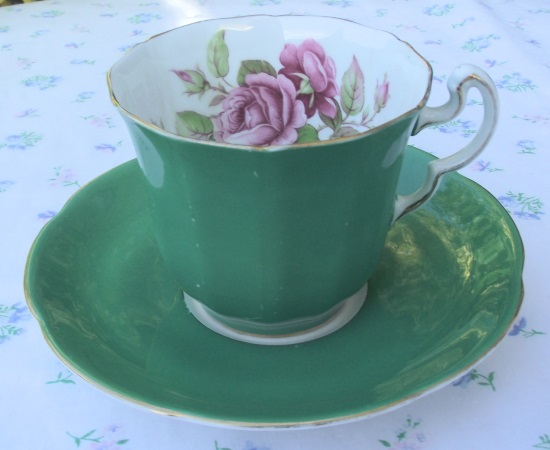 Adderley Green Duo with Rose Motif