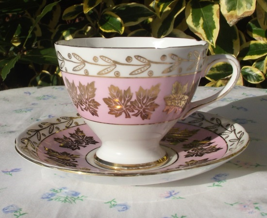 Gladstone Pink & Golden Autumn Leaves Duo