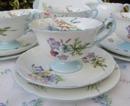 Shelley Wildflower Tea Set