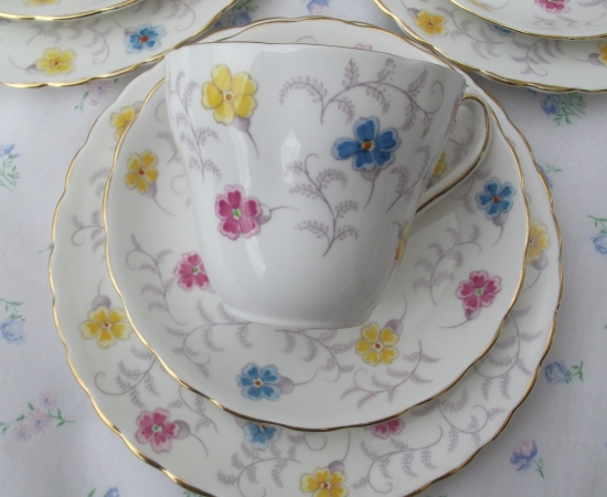 Set of 6 Tuscan Teacup Trios