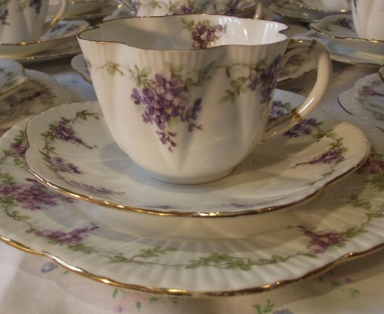 Wileman Wisteria Double Tea Set
