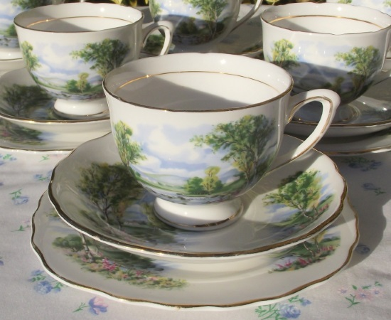 Colclough Set of Six Teacup Trios