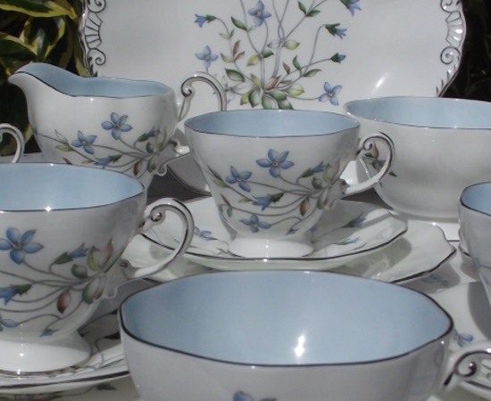 EB Foley Periwinkle Tea Set