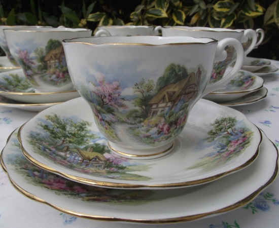 Royal Standard China Scene Tea Set
