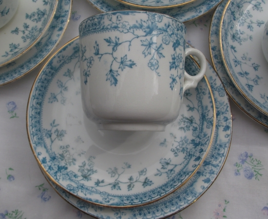 Radford Blue and White Tea Set
