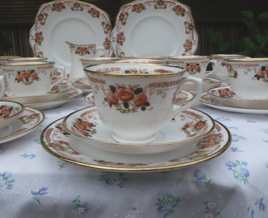Royal Albert Crown China Double Tea Set