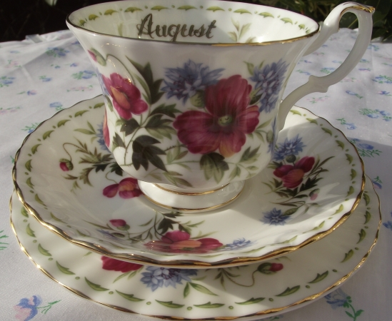 Royal Albert Flowers of the Month - August Trio