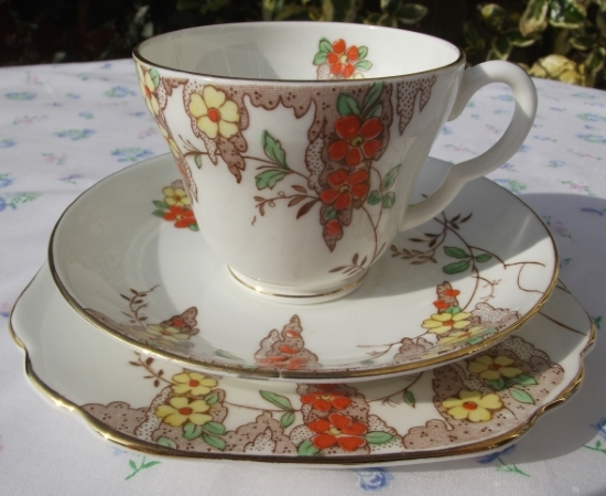 Stanley China Art Deco Trio