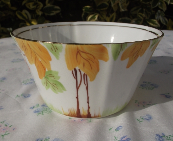 Stanley China Art Deco Sugar Bowl