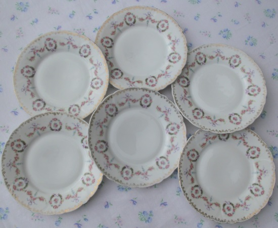 Limoges Set of Six Tea Plates